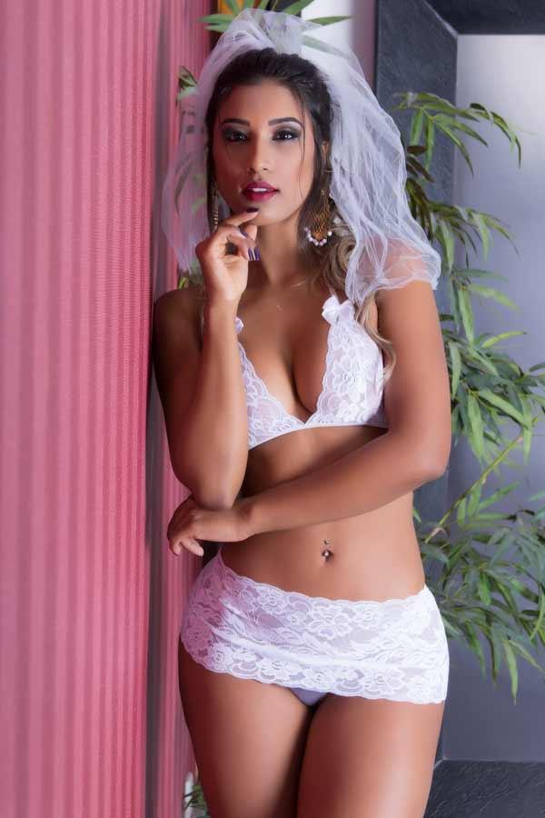 Lingerie para lua de mel - Fantasia Noiva Sensual - Garota Veneno