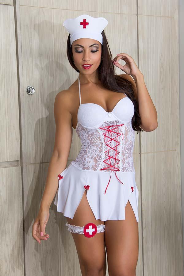 Fantasia Erótica Enfermeira / Médica Sensual - Garota Veneno
