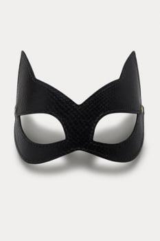 """Máscara """"Mulher Gato"""" em couro Python - Secret Play"""