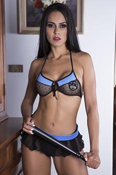 Fantasia erótica Policial de Mini Saia - Garota Veneno