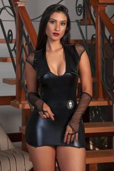 """Fantasia erótica - Vestido """"Policial"""" Bope em cirrê"""