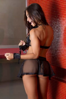 Fantasia sexy Acorrentada - Garota Veneno