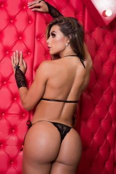 Body sensual em renda preta com tiras + Luvas
