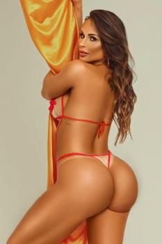 Body sensual rubi com transparência e aplicação bordada