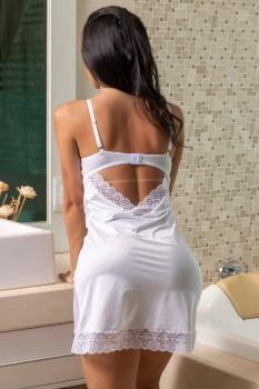 Camisola branca sem bojo com aro com fitas