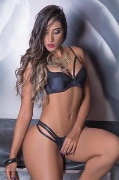 """Conjunto de lingerie sexy Calcinha e Sutiã """"Strappy-bra"""" em microfibra e renda"""