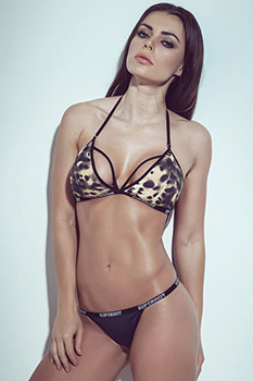 "Conjunto Superhot ""strappy"" com estampa animal print"