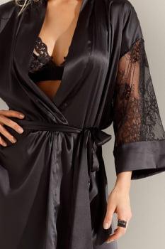 """Robe """"Opulência"""" preto"""
